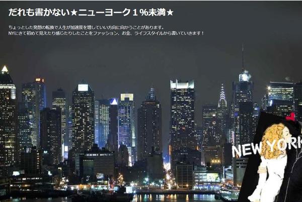 誰も書かない☆ニューヨーク1%未満☆