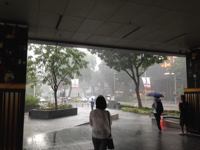 シンガポールの雨