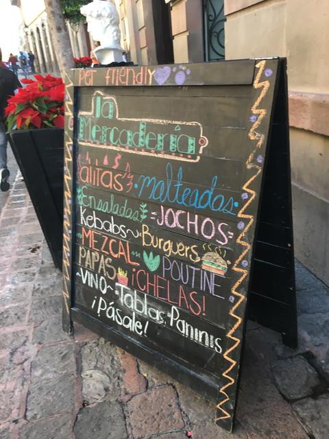 スペイン語の看板