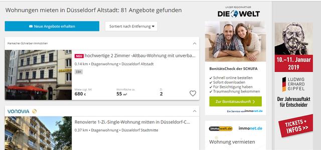 賃貸物件の検索サイトimmonet.de
