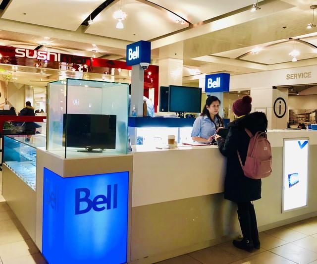 Bellの受付カウンター