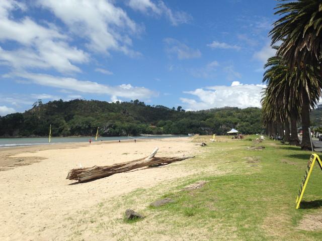 ニュージーランドのビーチ