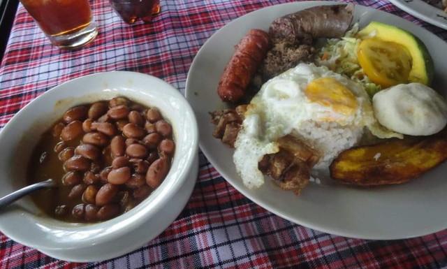 コロンビアの朝食
