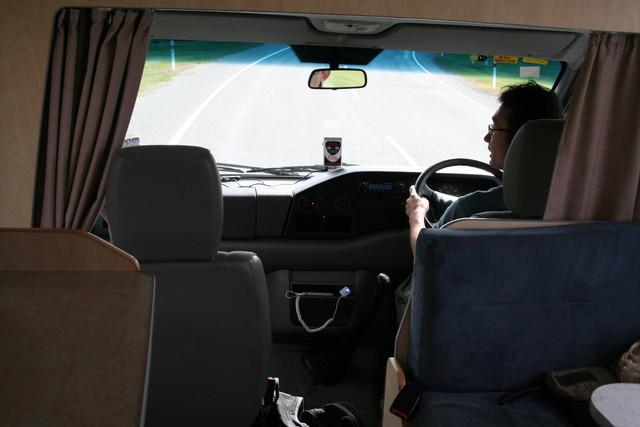 キャンピングカーの運転