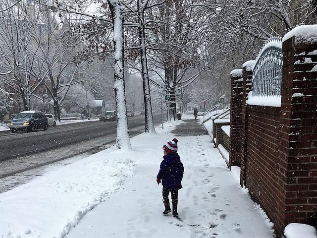 雪のワシントン