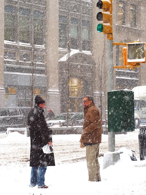 雪のニューヨーク